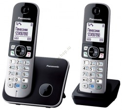 PANASONIC KX-TG6812RUB (черный) DECT